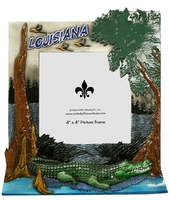 Louisiana Swamp Scene Picture Frame