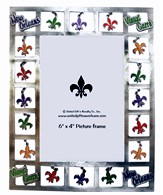 Fleur De Lis Dangle Picture Frame