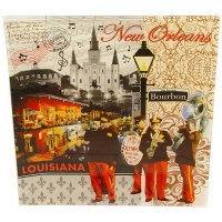 New Orleans Theme Plate