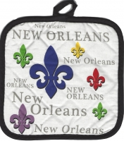 Fleur De Lis New Orleans Pot Holder