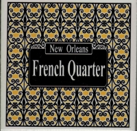 New Orleans French Quarter Lattice Ceramic Tile