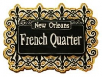 New Orleans French Quarter Lattice Magnet