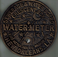 New Orleans Crescent City Cast Iron Water Meter Cover