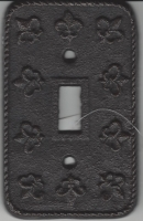 Fleur De Lis Cast Iron Switch Plate