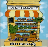 French Market Veggie Ceramic Tile