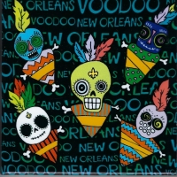 Voodoo Doll Ceramic Tile