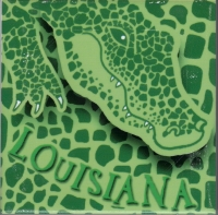 Louisiana Allligator Skin Ceramic Tile