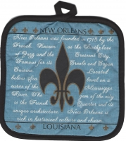 History Of New Orleans Pot Holder