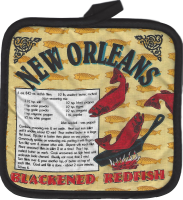 Blackened Red Fish Pot Holder