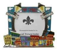 New Orleans Lamp Post Pewter Picture Frame