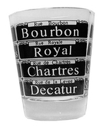 New Orleans Street Signs Shot Glass