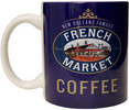 French Market Blue Coffee Mug